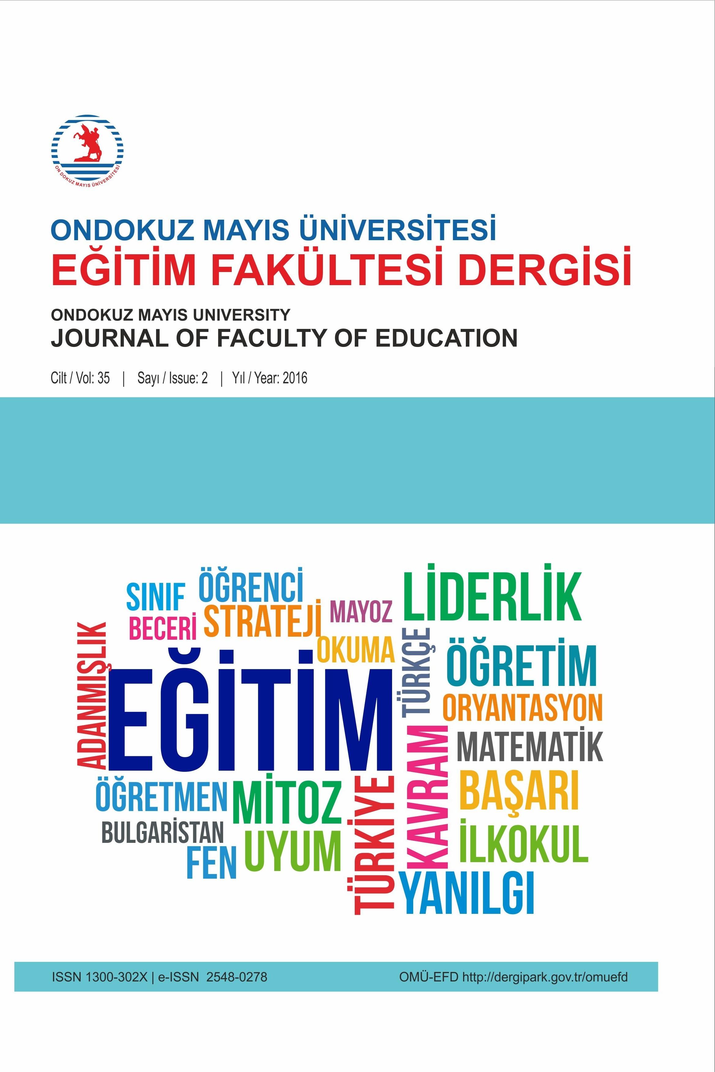 Ondokuz Mayıs Üniversitesi Eğitim Fakültesi Dergisi